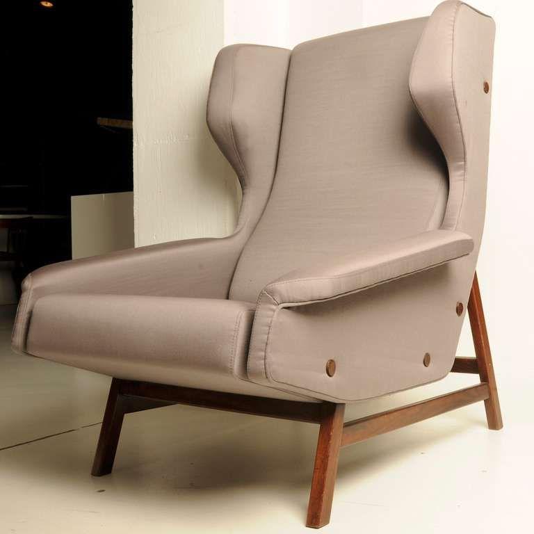 1955 Very Rare Wingback Chair Gianfranco Frattini Wingback Chair