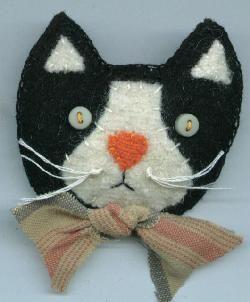Tuxedo Cat Pin      4.99 + 1.00 Ship = 5.99  www.PrimPenny.com    Laura Sederstrom Mishefske  S70 W13177 Flintlock Trail, Muskego, WI 53150