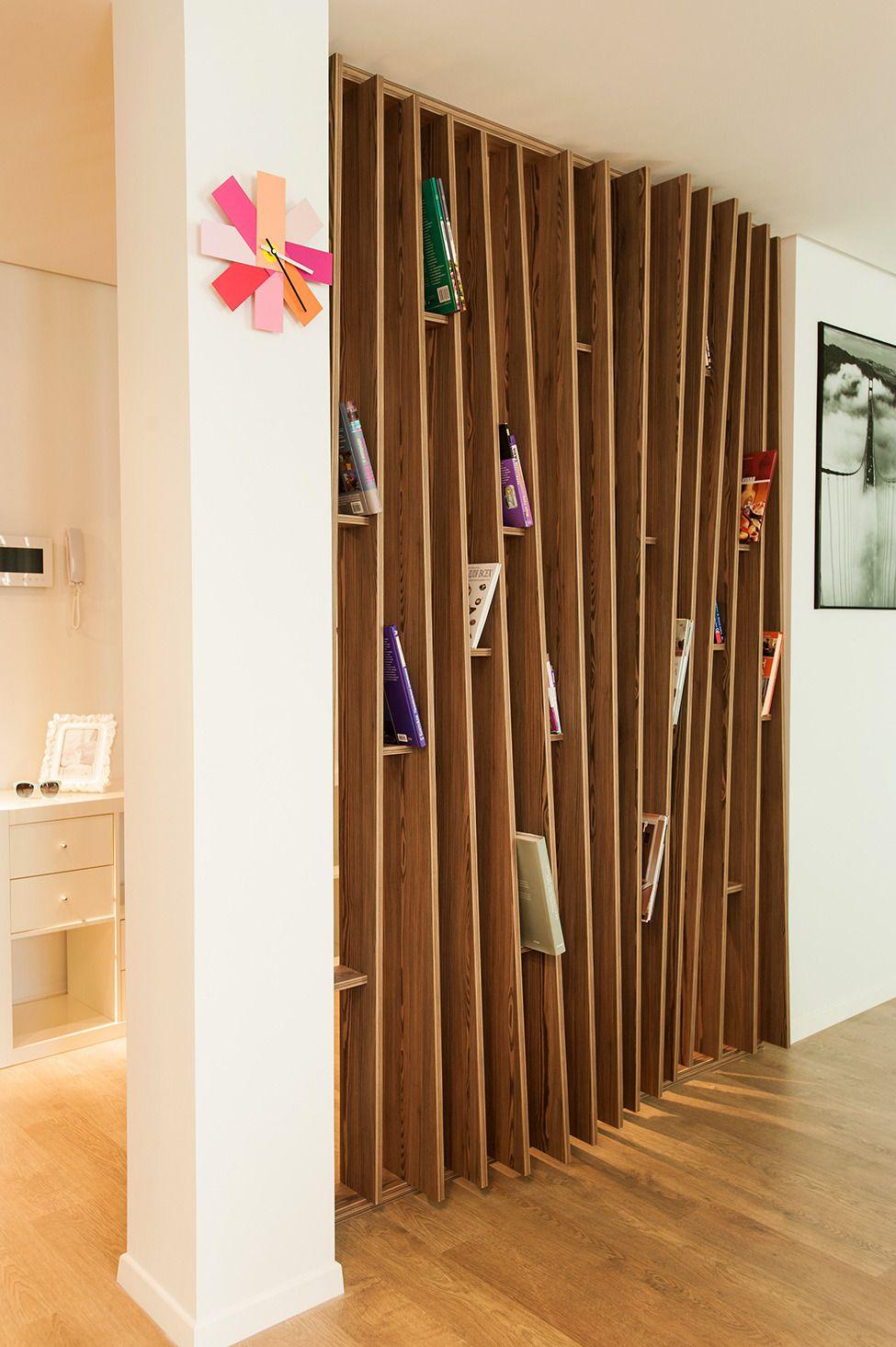 Уютная квартирастудия в Одессе divider shelves and interiors