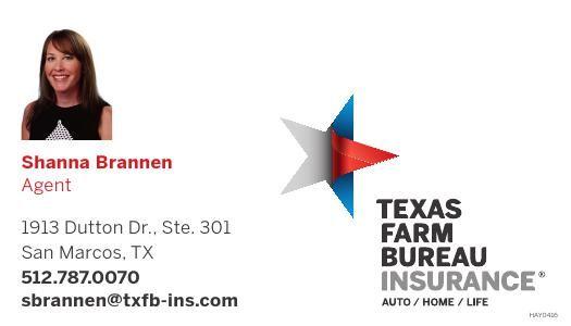 Shanna Brannen Agent 512 787 0070 Sbrannen Txfb Ins Com Texas