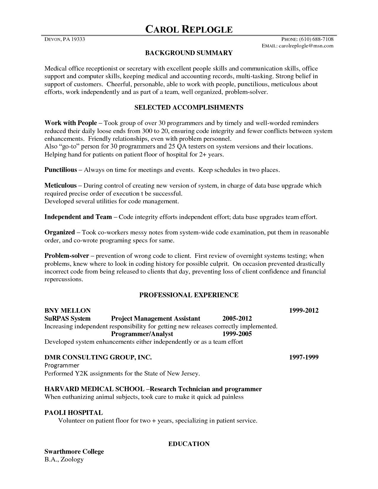 medical receptionist resume norcrosshistorycenter Office