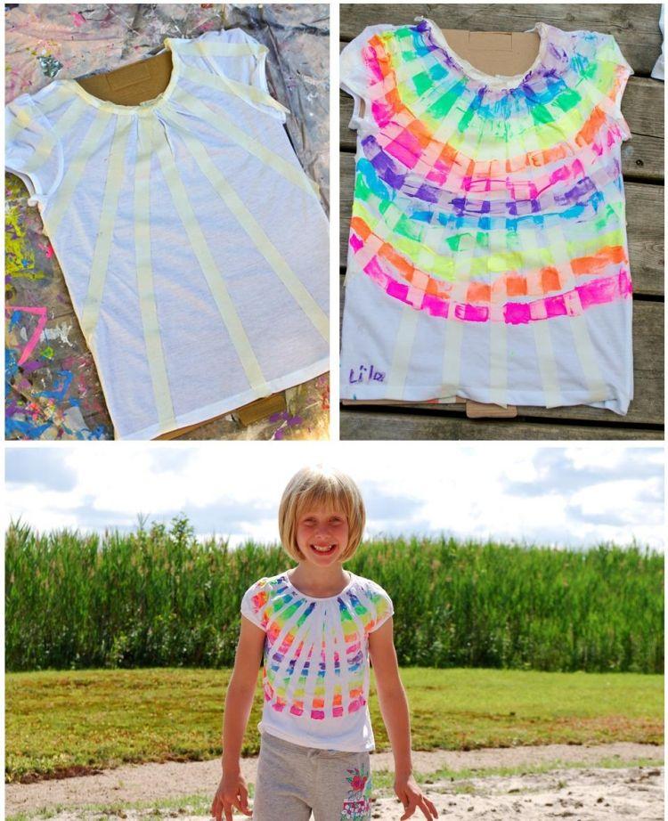 T Shirt Selbst Bemalen Mit Textilfarbe 22 Kreative Ideen Board