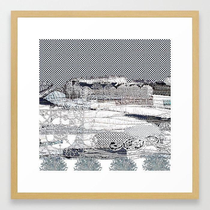 Winter lace Framed Art Print | home decor | Pinterest