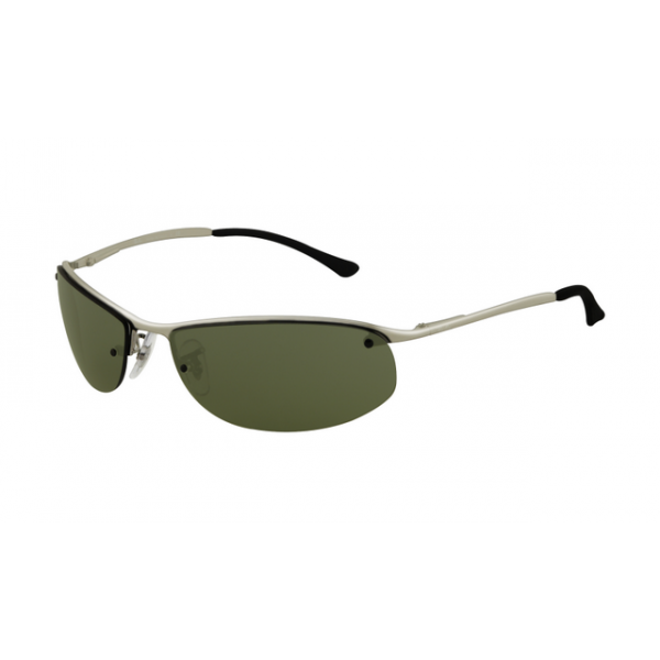 783b654d400 Ray Ban RB3179 Top Bar Oval Sunglasses Gunmetal Frame Green Oval  Sunglasses