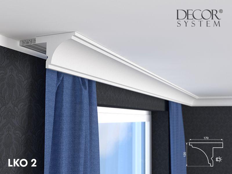 stuckprofil f r vorhangschienen lko2 ist eine innenausstattung f r die gardinenstange die auch. Black Bedroom Furniture Sets. Home Design Ideas