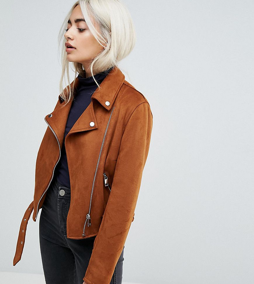 Get This New Look Petite S Leather Jacket Now Click For More Details Worldwide Shipping New Look Petite Suedette Biker Jacket Tan Biker Jacket By New Look [ 972 x 870 Pixel ]