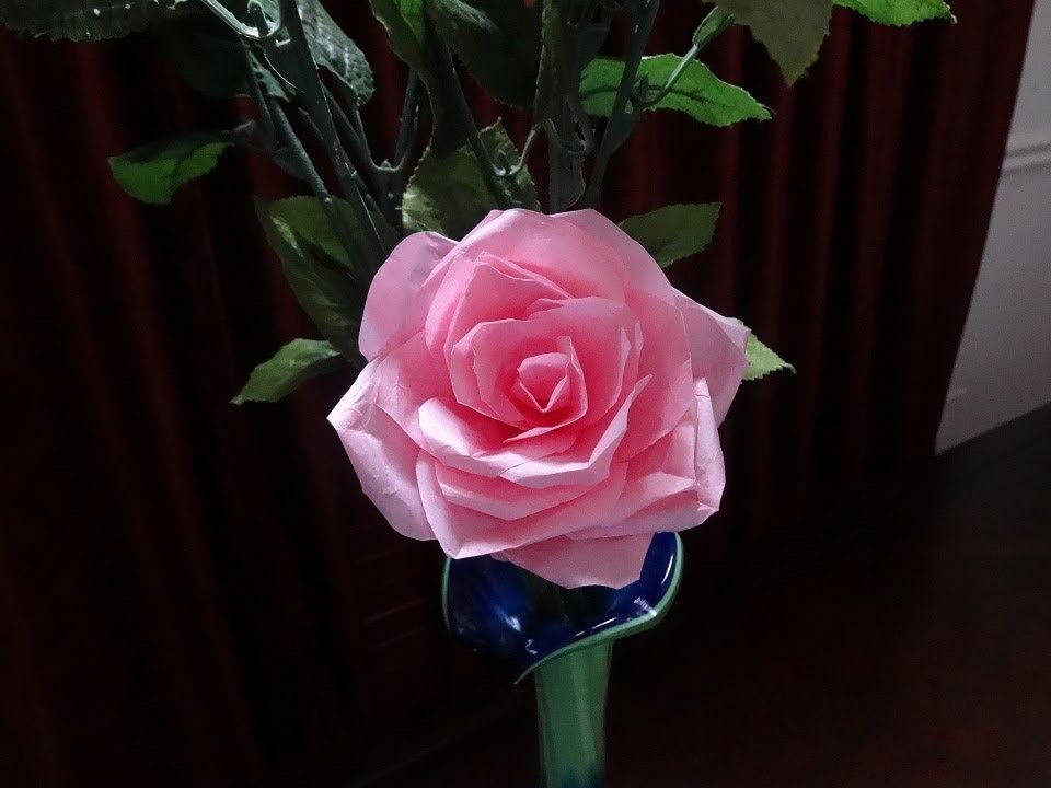 How to make tissue paper rose flower with wrapping method how to make tissue paper rose flower with wrapping method valentines day craft mightylinksfo
