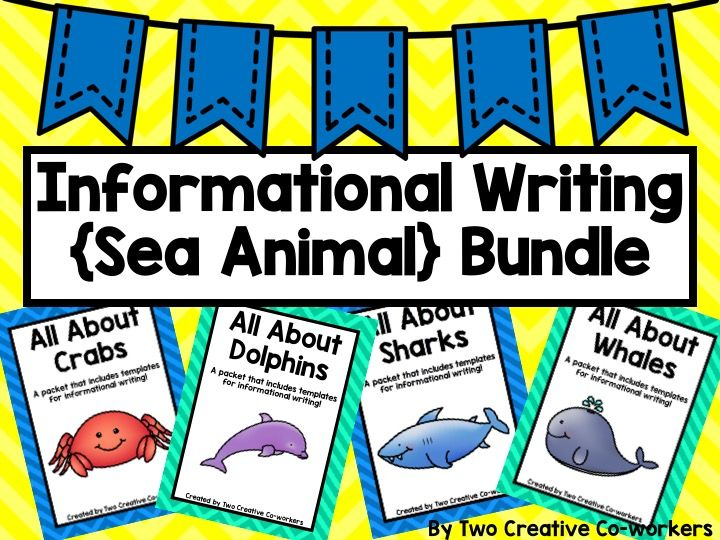 Informational Writing Bundle Sea Animals { Includes Blank - animal report template example