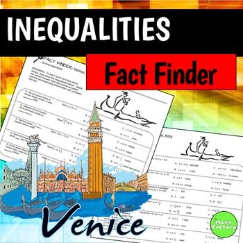 Fact Finder: Solving Inequalities   The Math Factory   Math ...