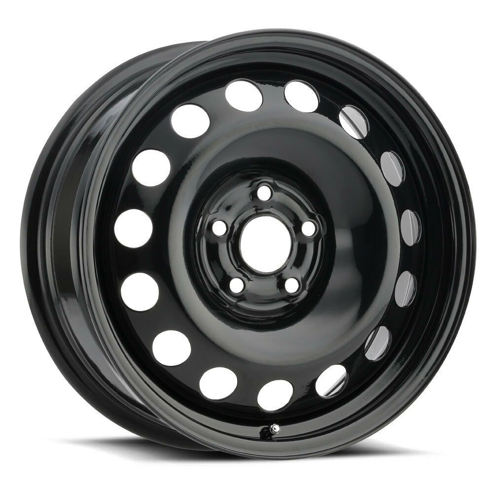 17 Black Oval Steel Wheel 5x110 42mm Ideal For Snow Winter Wheels Vision Wheel Rims Black Wheels Wheel