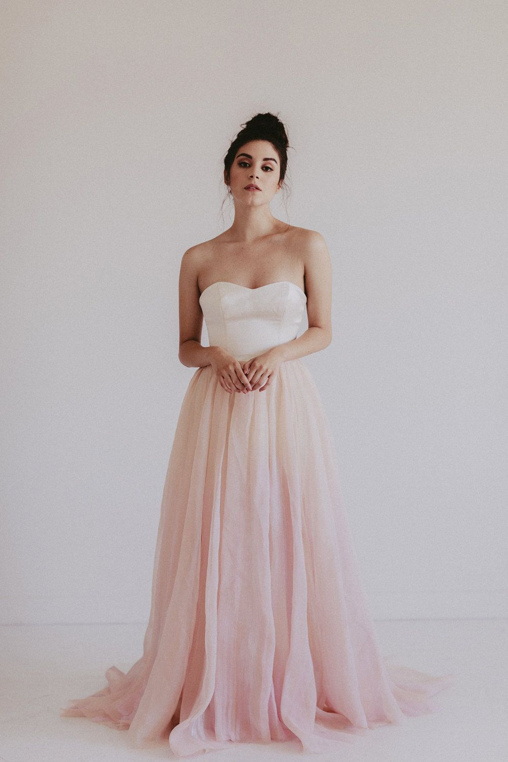 1423b64781b5 Chantel Lauren DOLLY|| Hand painted color wedding gown || Blush wedding  dress || See more at emmaandgracebridal.com