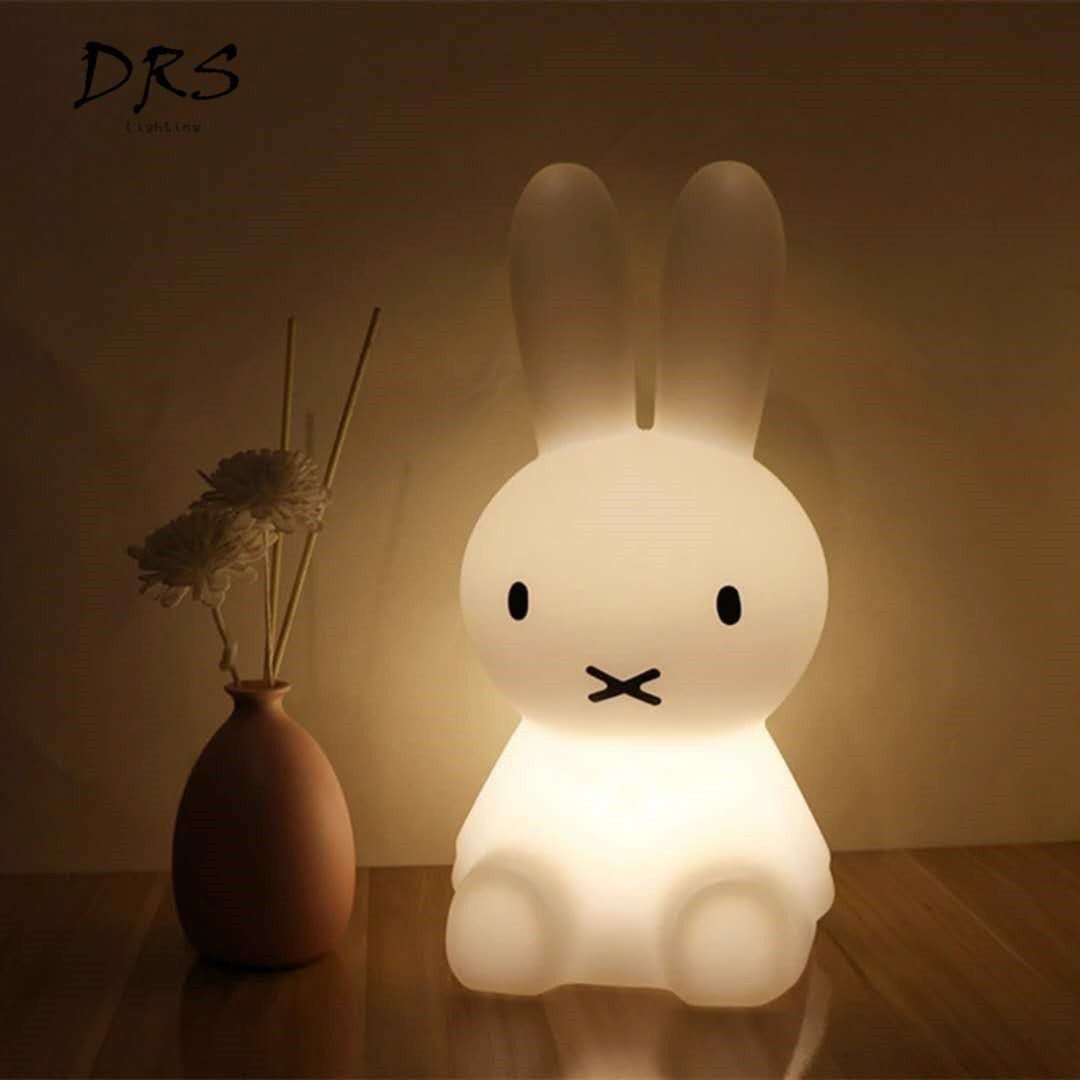 Ins Hot Miffy Rabbit Children Led Bed Table Lamp Dimmable Led Night Light Usb Rechargeable Night Light For Kids G Bunny Lamp Night Light Kids Cute Night Lights