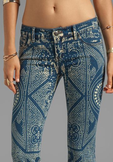 I LOVE this sexy and exotic Bali inspired pattern that is simply bleach on blue jeans!! I don't even want to know how much they really cost- so go run and buy a BLEACH PEN, buy or create a stencil, and grab a pair of blue jeans that fit you like a glove and go for it!!  FREE PEOPLE Bali Flare Pant in Malaya Wash 