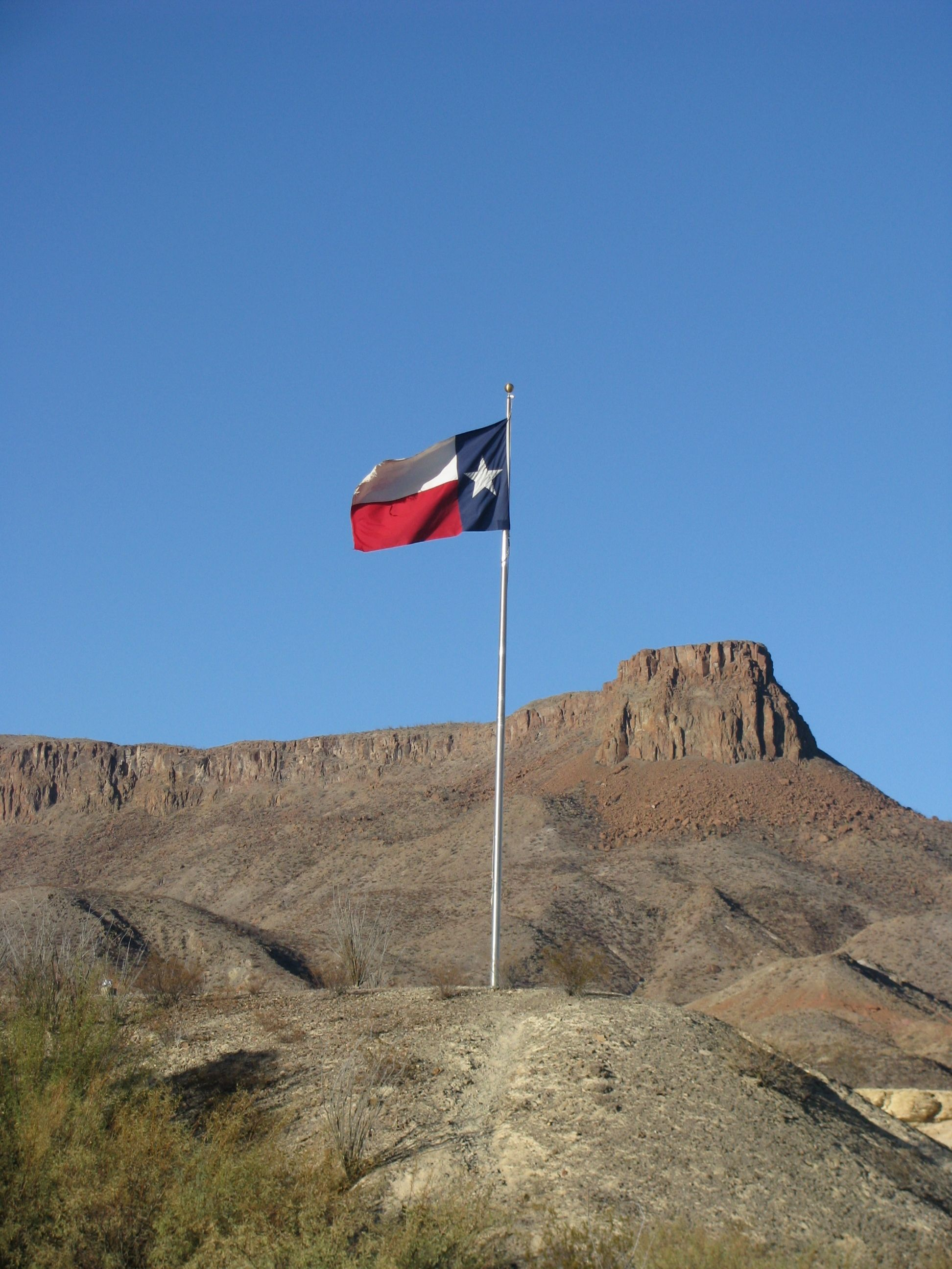 Texas Flag at Lajitas