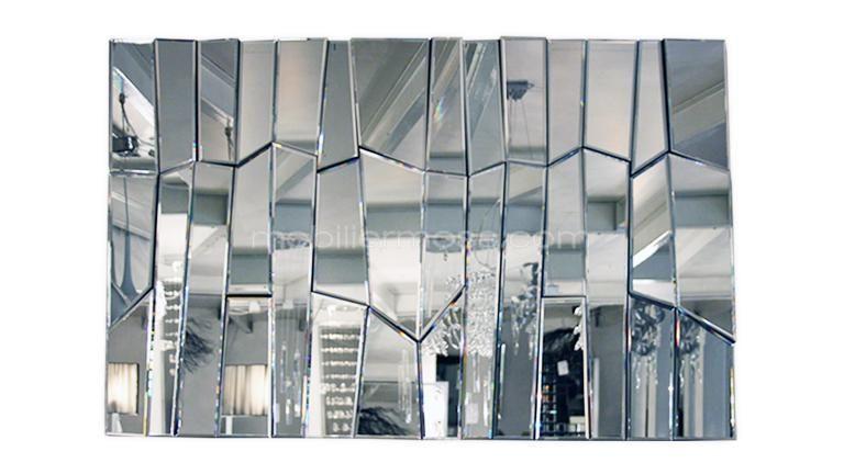 grand miroir design rectangulaire multifacettes meza MOBILIER