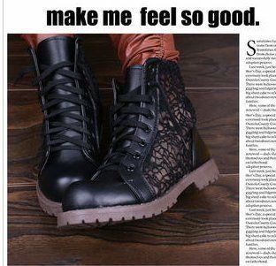 Nova arrivel! Primavera e outono recorte botas martin lacing todos combinar botas botas flat single botas