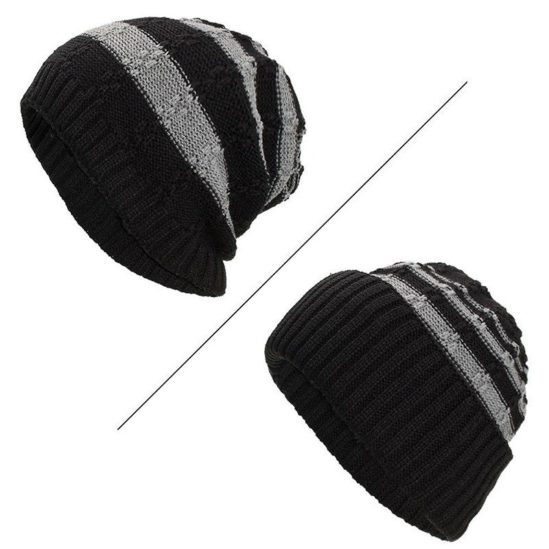 TwoCC-Knitted Hat Winter Color for Men and Women Gray Matching a Warm and Comfortable Wild Wool Cap