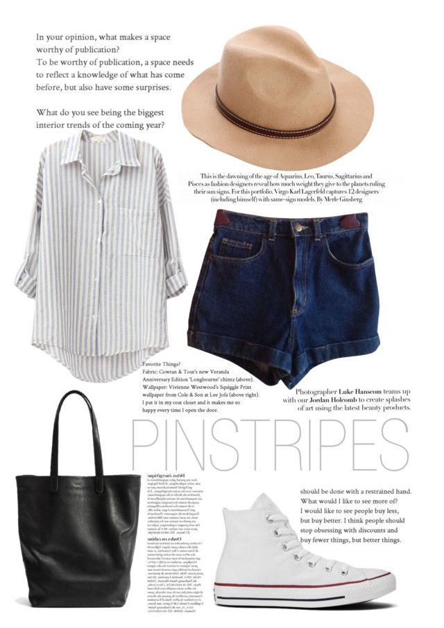 """""""Pinstripes - Second"""" by javorkozima ❤ liked on Polyvore featuring Karl Lagerfeld, American Apparel, Boohoo, Anja, Converse, stripes, pinstripes and stripedshirt"""