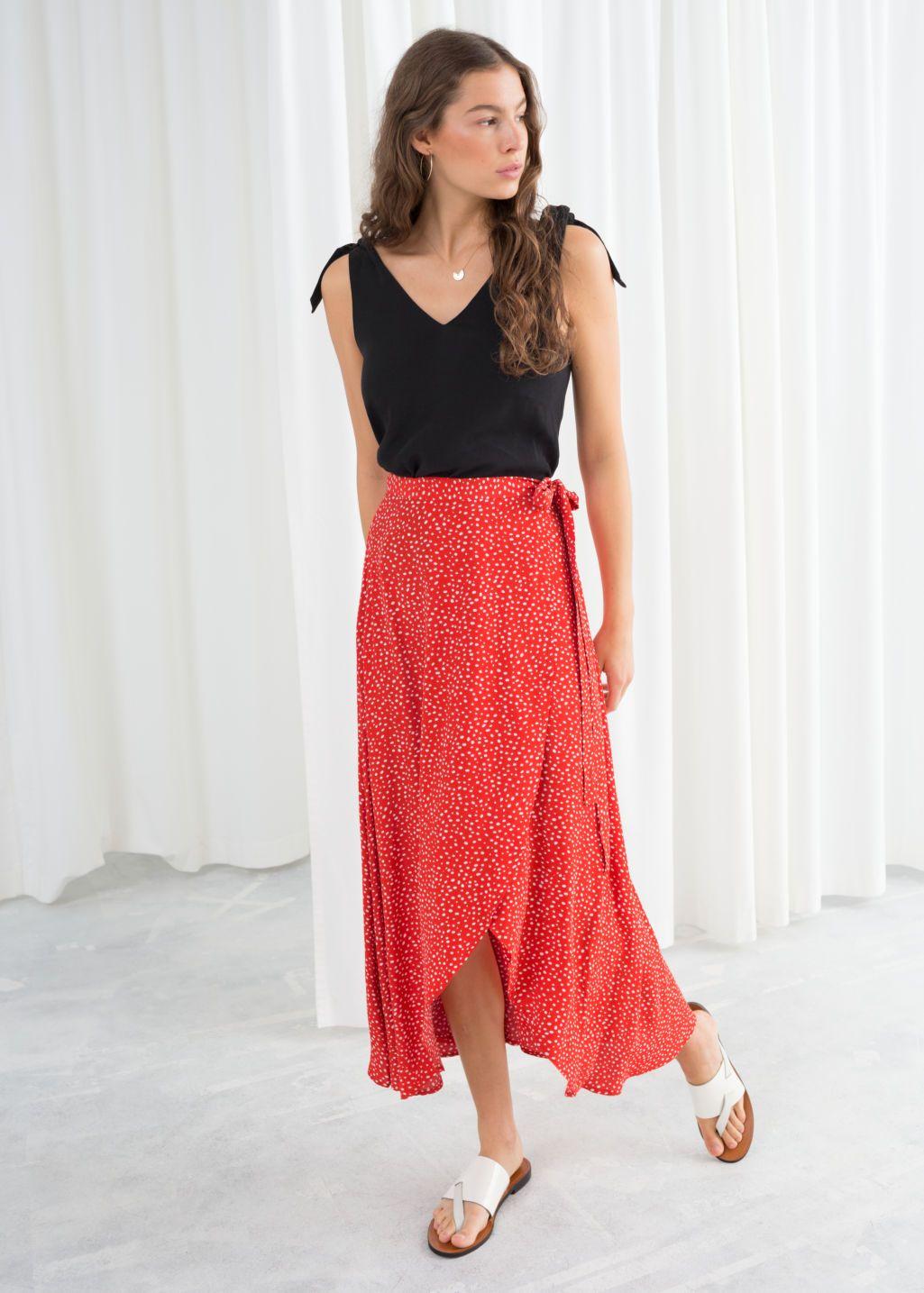 bf6d5d6e009b Asymmetric Wrap Midi Skirt in 2019 | Fashion: Summer | Midi wrap ...