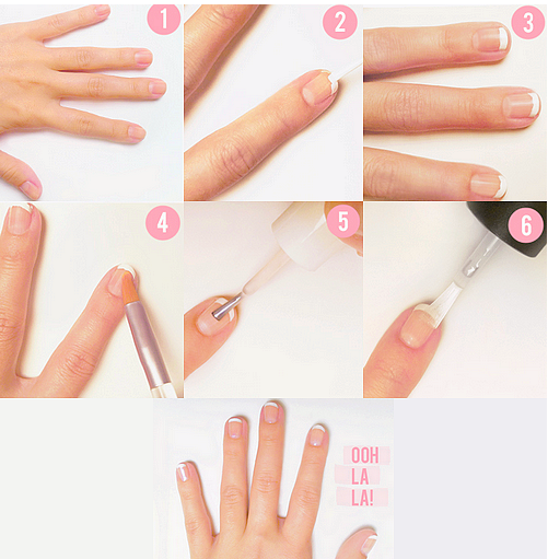Right Here Is A Tutorial For How To Do A Traditional French Manicure At Home Step By Step Wit French Manicure Nail Designs French Nails French Manicure Designs