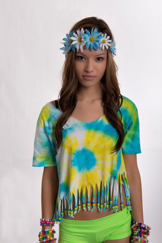 Customizable Tie Dye Fringe TShirt by EatSleepRaveBras on Etsy, $15.00 - Customizable Tie Dye Fringe TShirt By EatSleepRaveBras On Etsy