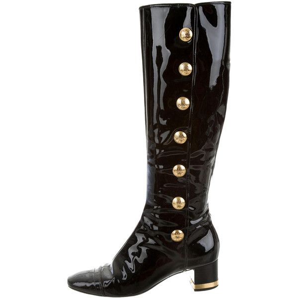 36da1d494d6d2e Pre-owned Tory Burch Patent Leather Knee-High Boots ( 95) ❤ liked ...