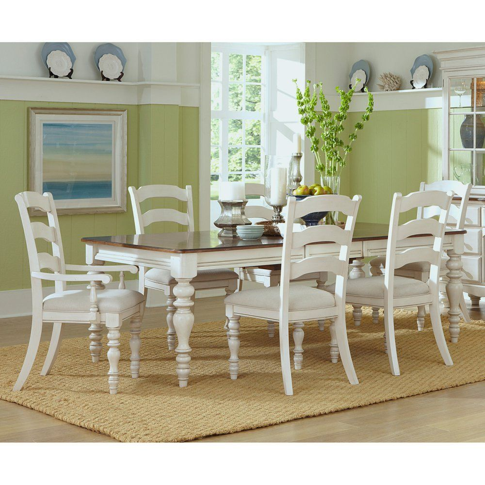 Hillsdale furniture hillsdale pine island piece dining table set