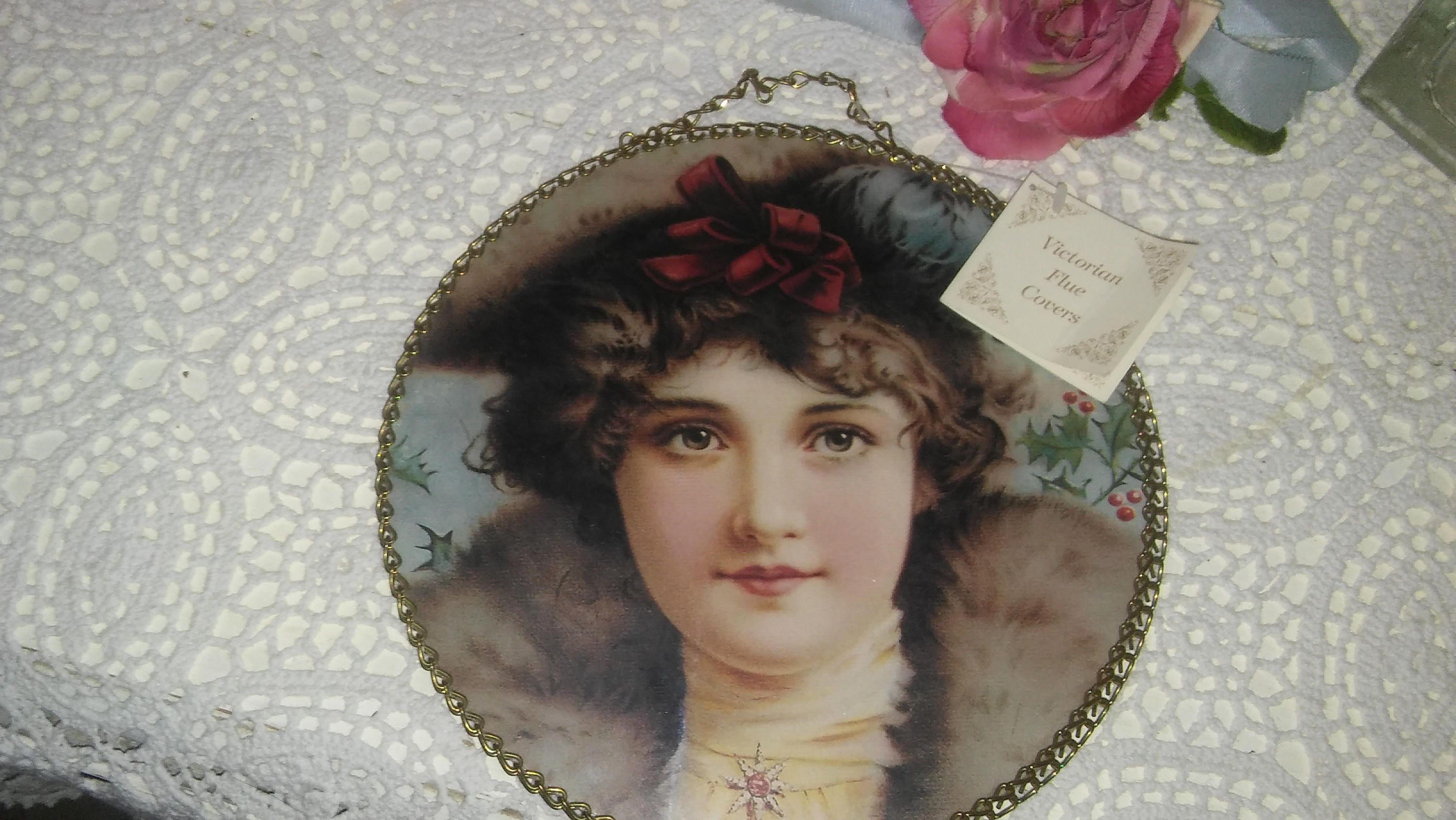 Victorian Flue Cover Gallery Graphics Victorian Lady Glass