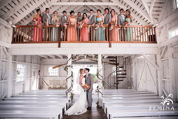 Multi Color Bridesmaid Dresses Grey Groomsmen Suits Bonnet Island Wedding Beach Weddings By