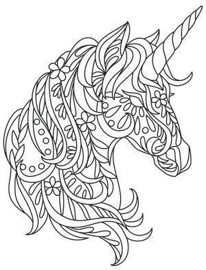 Unicorns Art Pinterest Ausmalen Einhorn Und Ausmalbilder
