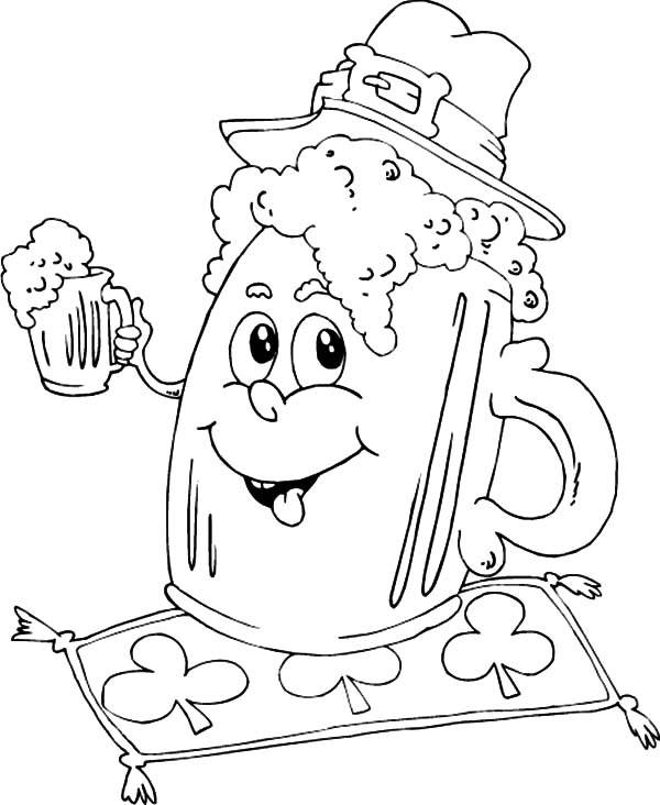 Irish Mug Beer Coloring Pages Best Place To Color Coloring Pages Coloring Books St Pattys Day