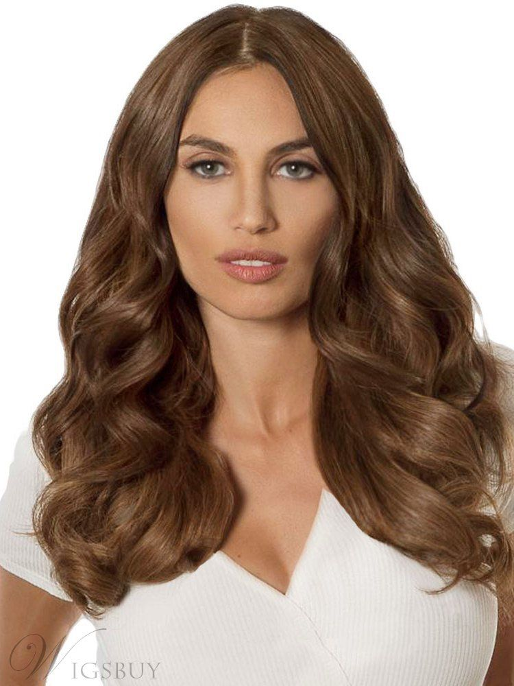Middle Part Long Wavy Lace Front Wig 20 Inches in 2020