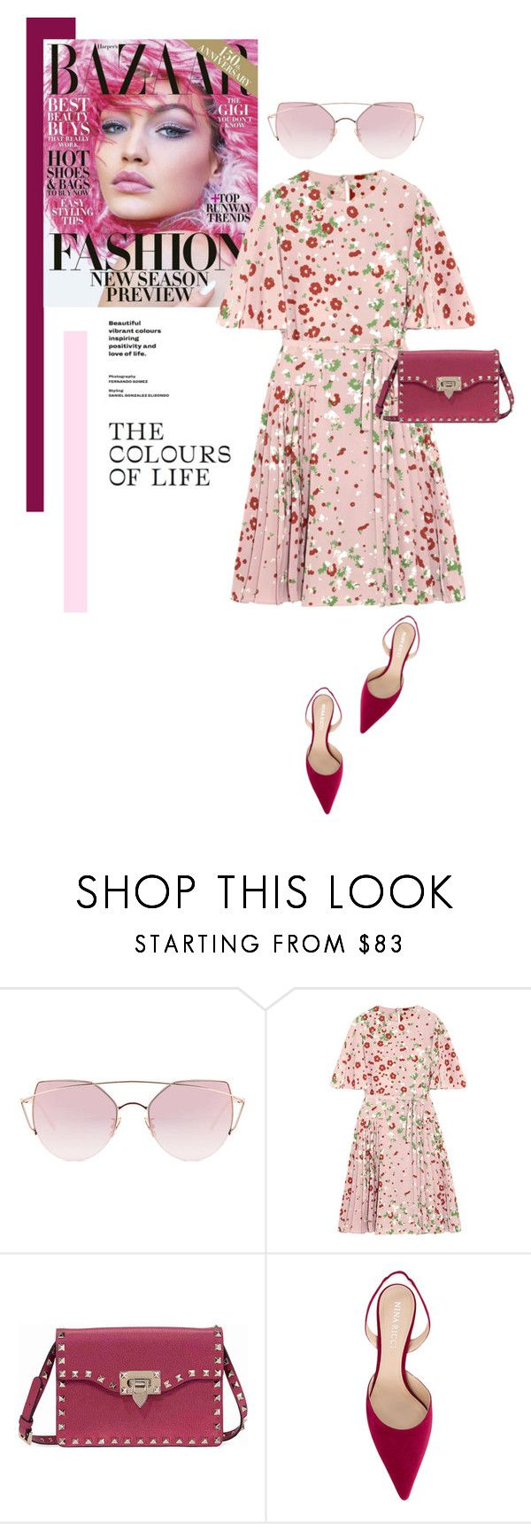 """Pink Shades"" by smartbuyglasses ❤ liked on Polyvore featuring LMNT, Valentino, Nina Ricci and Pink"