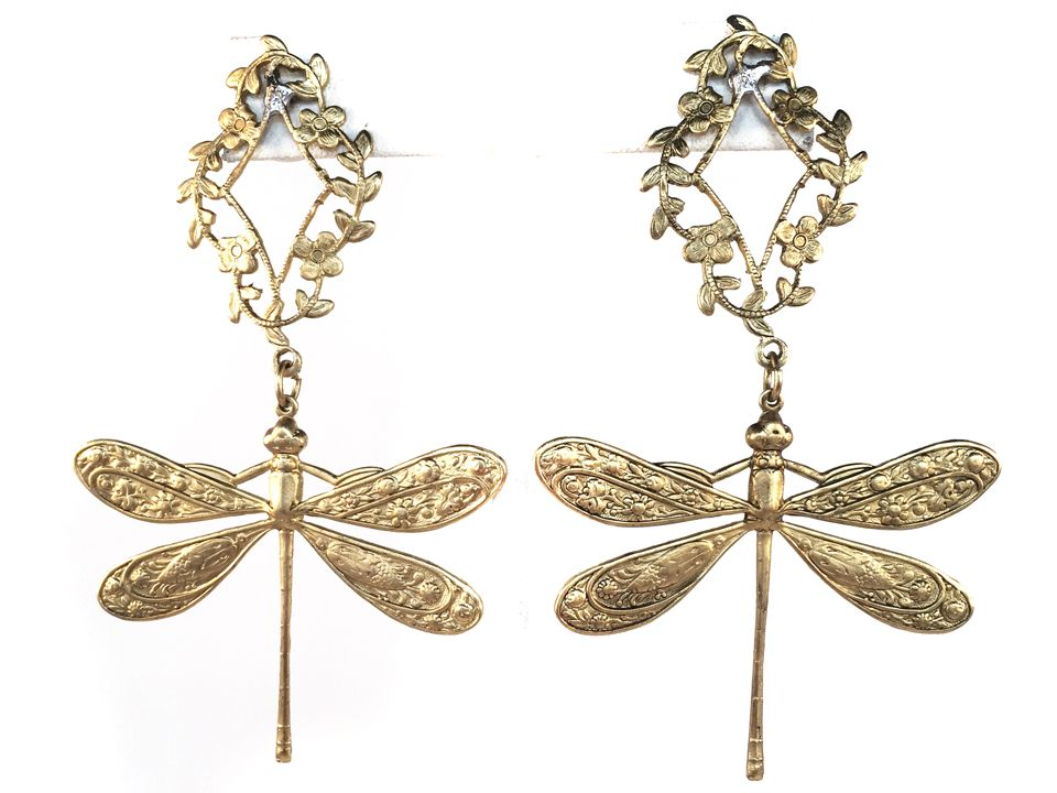 E409 Dragonfly Earrings