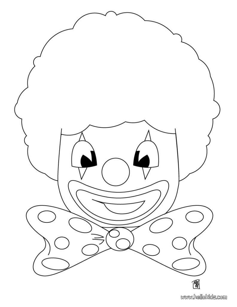 Clown Coloring Pages | clown-head-coloring-page-source_z2n.jpg HHH ...