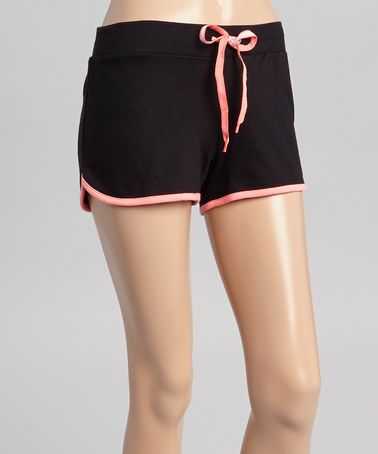 Love this Jet Black French Terry Dolphin Tennis Shorts - Women by Sweet Threadz on #zulily! #zulilyfinds
