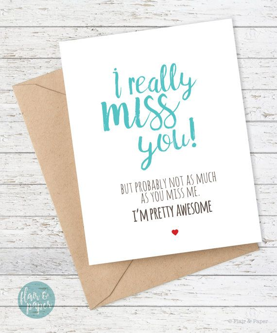 I miss you card boyfriend card funny cards funny by flairandpaper funny boyfriend card funny cards girlfriend quirky greeting card funny birthday card im all yours bookmarktalkfo Images