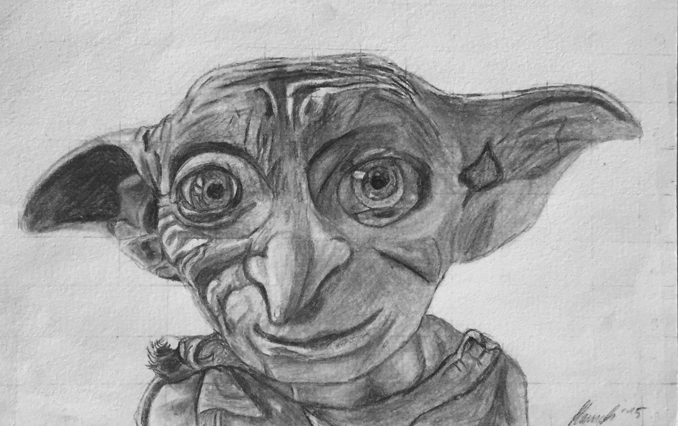 dobby, bleistift zeichnung 2015 | sketches | harry potter, gay harry