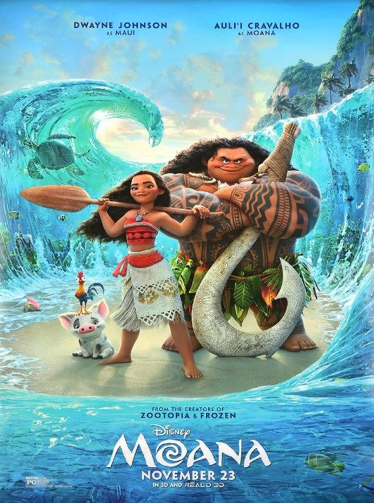 The ocean is calling. And so is this exquisite theatrical poster from Disney's new feature film, Moana