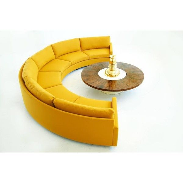 The Half Circle Sofa Can Add Shape To A Boring Rectangle Of A Room It Can Complement The Natural Sofa Design Living Room Design Modern Minimalist Living Room