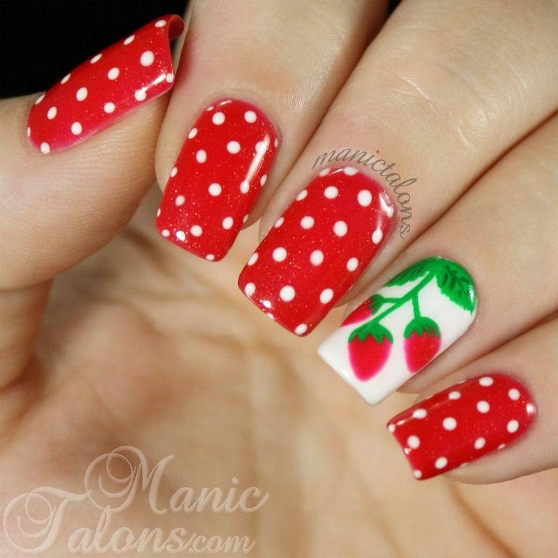 Nailpolis Museum of Nail Art | Sweet Summer Strawberries by ManicTalons