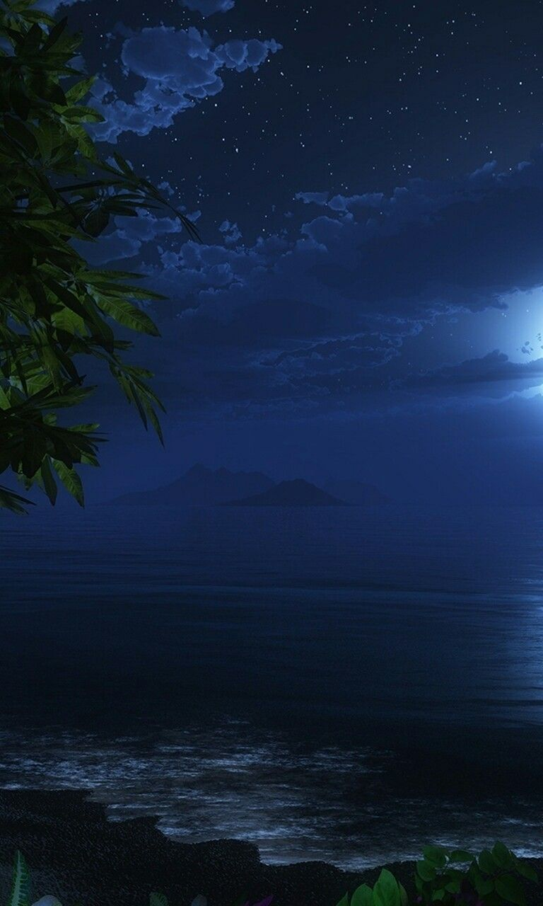 Pin By Piper Miller On Water Night Sky Wallpaper Ocean Wallpaper Sea Pictures