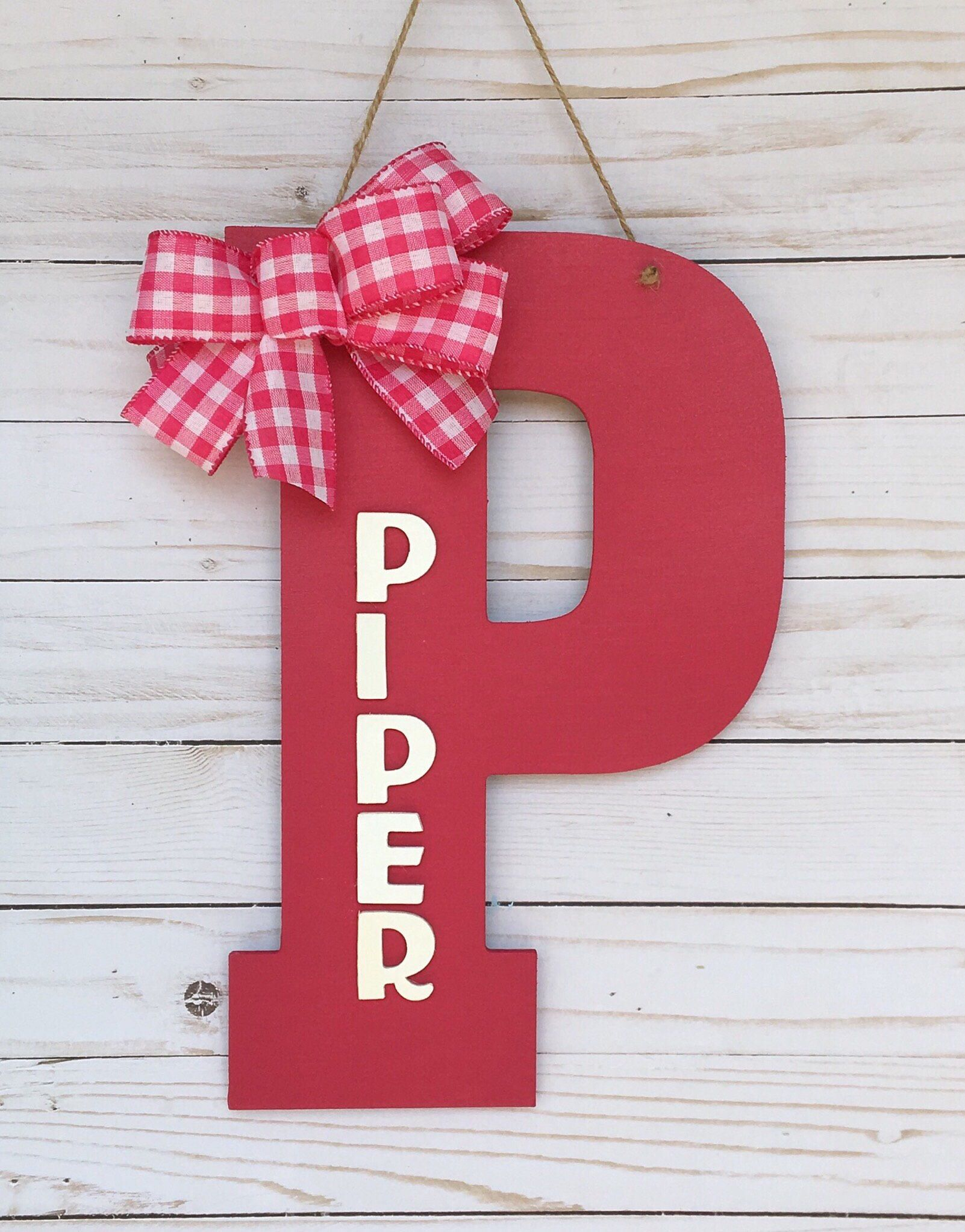 Excited To Share The Latest Addition My Etsy Kids Room Wall Decoration Personalized Hangers Letters Nursery Decor Childrens