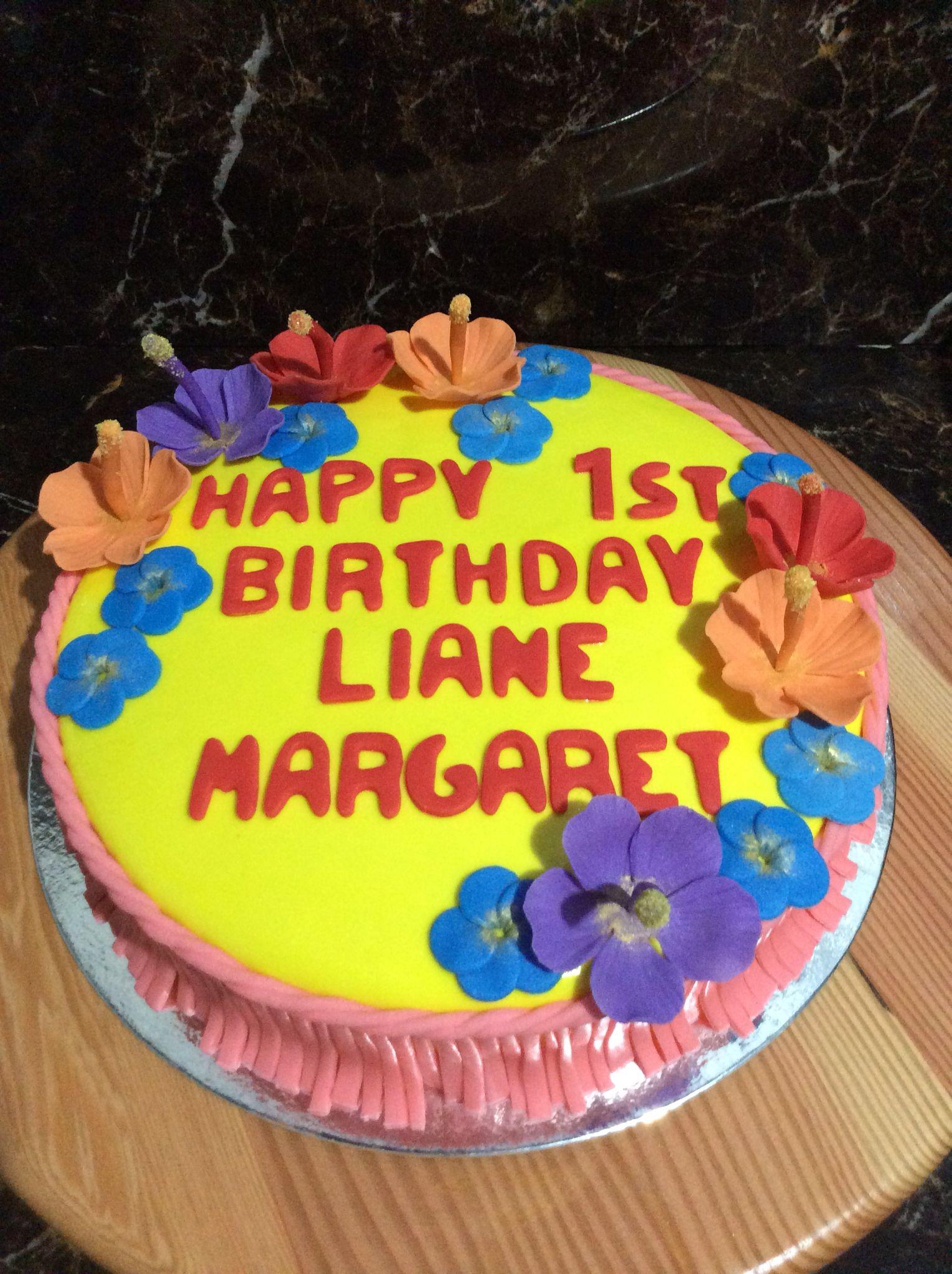 Hawaiian Theme Cake Cake Cupcake Design Pinterest Hawaiian