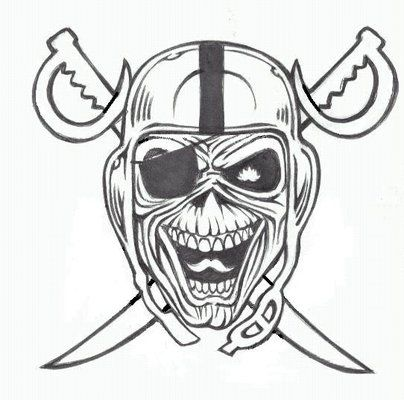 black and white oakland raiders skull tattoo 404 400 p doggs pinterest. Black Bedroom Furniture Sets. Home Design Ideas