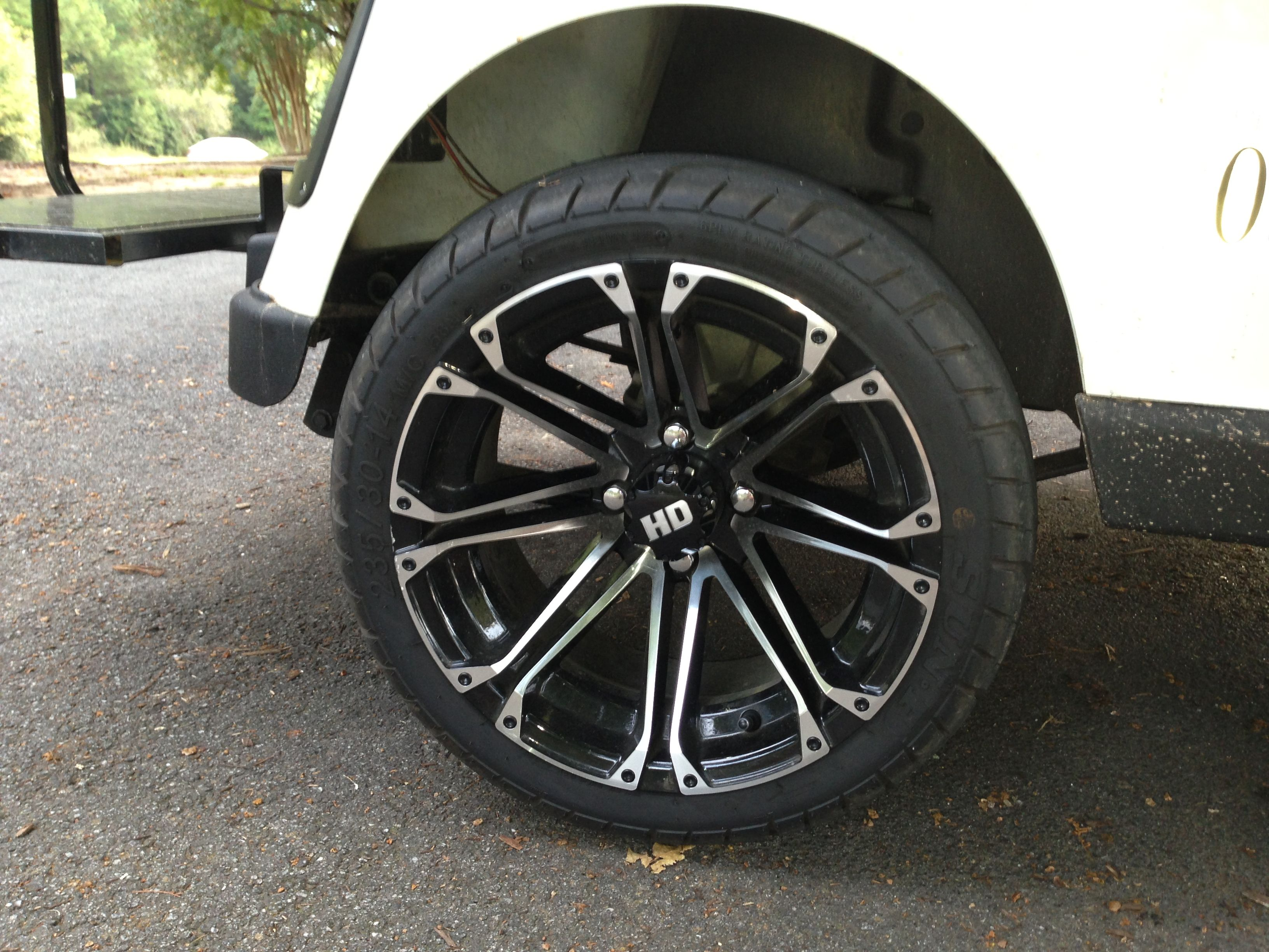 Golf Cart Wheels And Tires Sizes Finishes For Style And Custom Look Golf Cart Wheels Golf Cart Tires Golf Carts