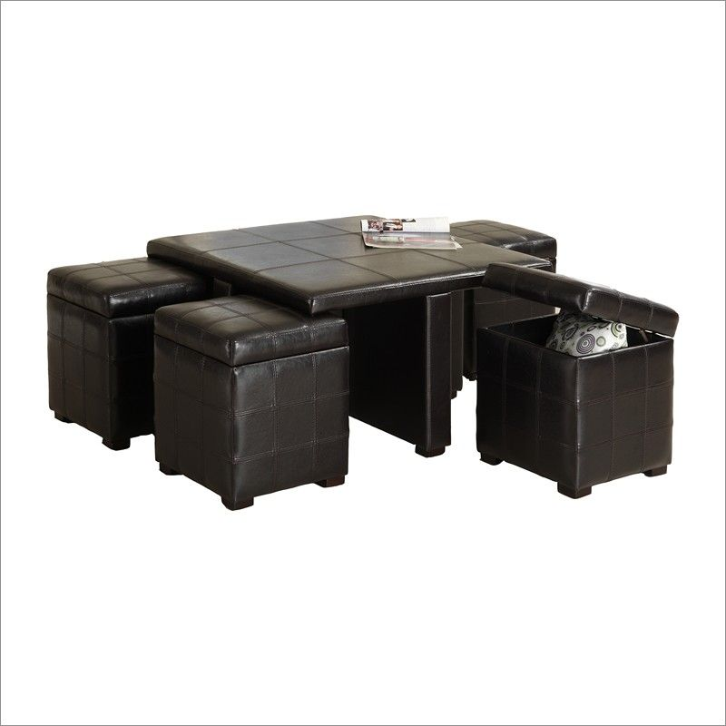 Adam says...leather nesting ottoman. coffee table, board game ...