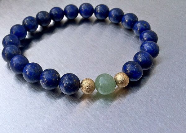 Fearless Lazuli. Created especially for all the survivors out there. Natural #Lapis #beads help and empower the healing process of abuse. 20% of sales will be donated to FearlessFemales.com. Beyond survival is living life without fear.. #FearlessFemales