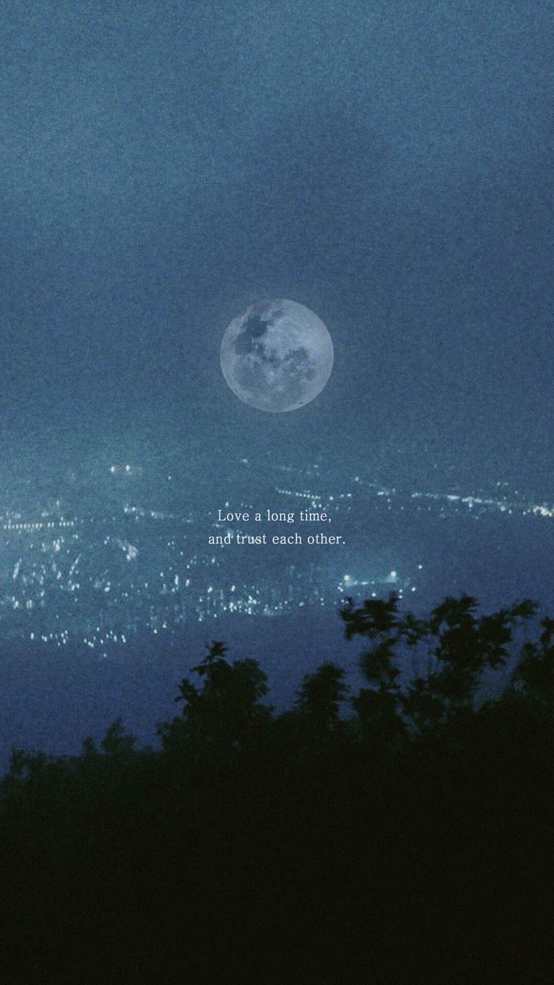 Cr V95min Via Sw Eunb Night Sky Moon Background Bts Lyric