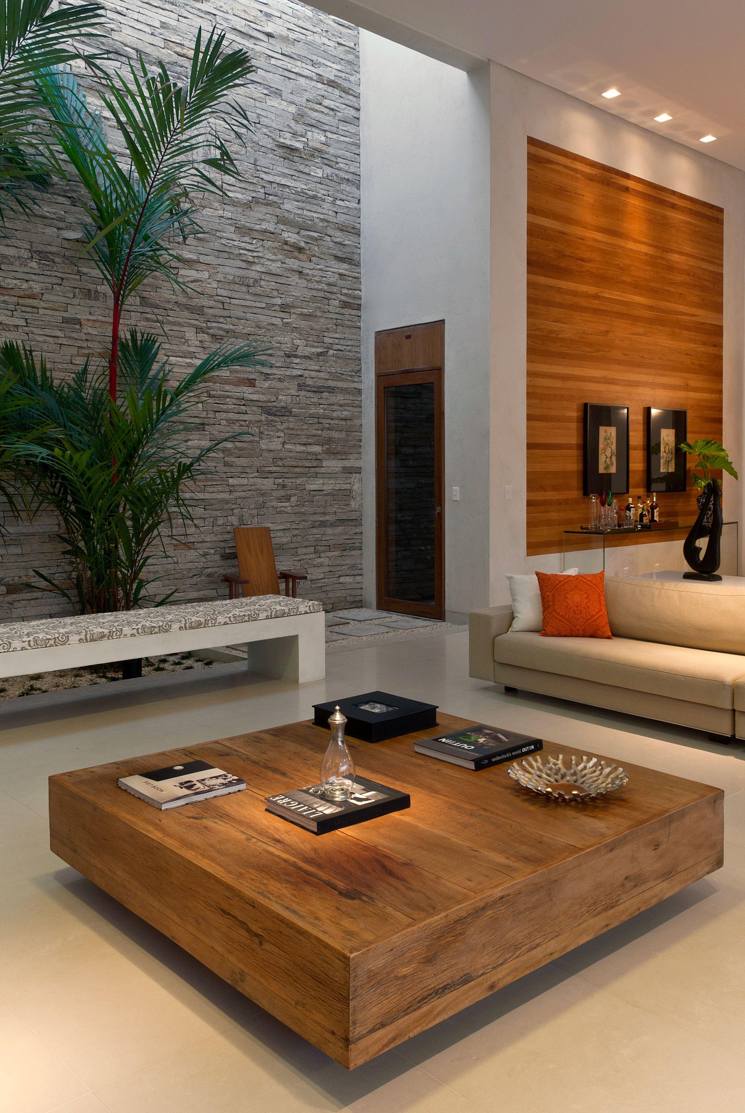 Projeto de Andrea Murao en 2019   Mesas de sala modernas ... on Interiores De Casas Modernas  id=71186